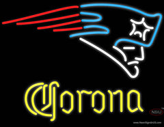 Corona New England Patriots NFL Real Neon Glass Tube Neon Sign