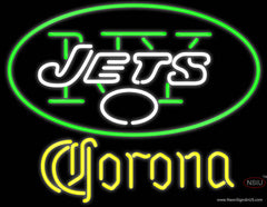 Corona New York Jets NFL Real Neon Glass Tube Neon Sign