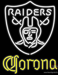 Corona Oakland Raiders NFL Real Neon Glass Tube Neon Sign