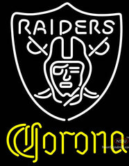 Corona Oakland Raiders NFL Neon Sign