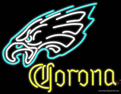 Corona Philadelphia Eagles NFL Real Neon Glass Tube Neon Sign