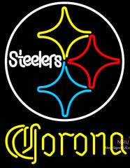 Corona Pittsburgh Steelers NFL Neon Sign