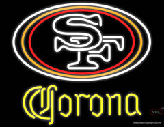 Corona San Francisco ers NFL Real Neon Glass Tube Neon Sign