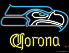 Corona Seattle Seahawks NFL Real Neon Glass Tube Neon Sign