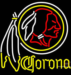 Corona Washington Redskins NFL Neon Sign