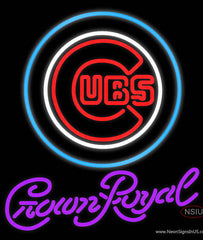 Crown Royal Chicago Cubs MLB Real Neon Glass Tube Neon Sign