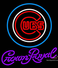 Crown Royal Chicago Cubs MLB Neon Sign