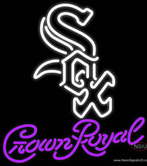 Crown Royal Chicago White Sox MLB Real Neon Glass Tube Neon Sign