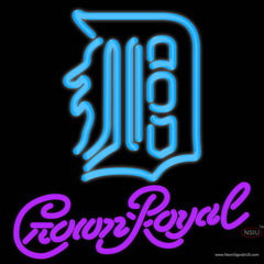 Crown Royal Detroit Tigers MLB Real Neon Glass Tube Neon Sign   x