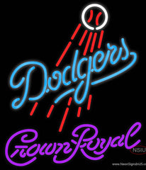 Crown Royal Los Angeles Dodgers MLB Real Neon Glass Tube Neon Sign  7
