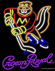 Crown Royal Minnesota Golden Gophers Hockey Real Neon Glass Tube Neon Sign