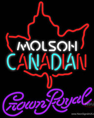 Crown Royal Molson Leaf Hockey Real Neon Glass Tube Neon Sign