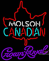 Crown Royal Molson Leaf Hockey Neon Sign