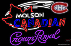 Crown Royal Molson Montreal Canadians Hockey Real Neon Glass Tube Neon Sign
