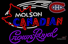Crown Royal Molson Montreal Canadians Hockey Neon Sign