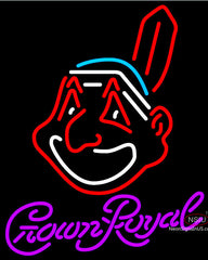 Crown Royal Neon Cleveland Indians MLB Neon Sign
