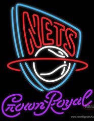 Crown Royal New Jersey Nets NBA Real Neon Glass Tube Neon Sign