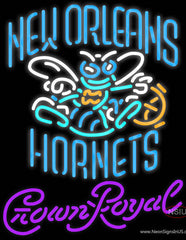 Crown Royal New Orleans Hornets NBA Real Neon Glass Tube Neon Sign