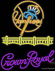 Crown Royal New York Yankees Real Neon Glass Tube Neon Sign