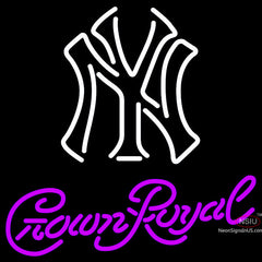 Crown Royal New York Yankees White MLB Neon Sign   x