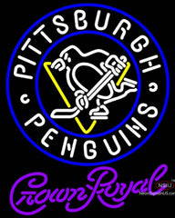 Crown Royal Pittsburgh Penguins Hockey Neon Sign
