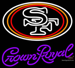 Crown Royal San Francisco ers NFL Neon Sign