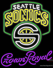 Crown Royal Seattle Supersonics NBA Real Neon Glass Tube Neon Sign