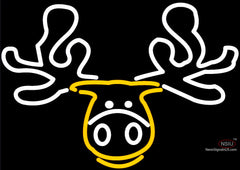 Moose Head Logo Neon Beer Sign