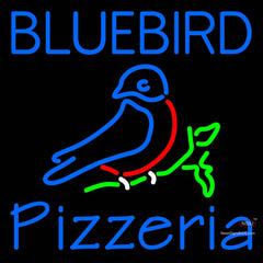 Custom Bluebird Pizzeria Neon Sign