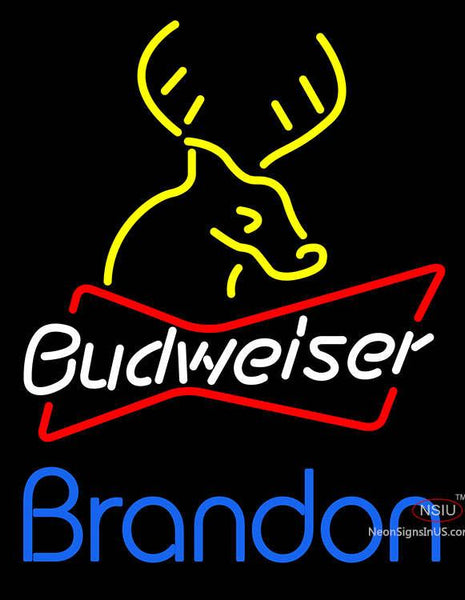 Custom Brandon Budweiser Logo Neon Sign
