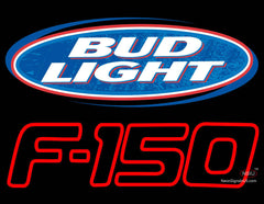 Bud Light And Ford  Logo Neon Sign