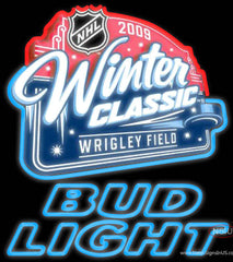 Bud Light Neon  NHL Winter Classic Real Neon Glass Tube Neon Sign