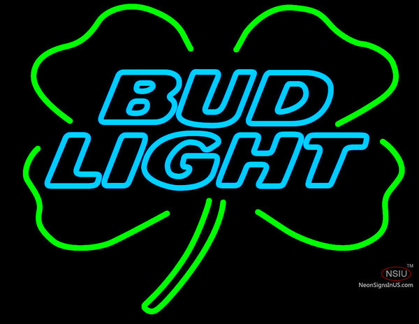 Budlight Shamrock Neon Sign