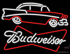 Budweiser 7 Chevy Real Neon Glass Tube Neon Sign