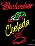 Red Budweiser Chelada Neon Beer Sign