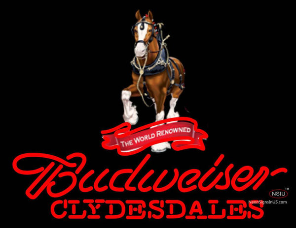 Custom Budweiser Clydesdales Neon Sign
