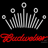 Red Budweiser White Crown Neon Sign