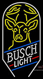 Custom Busch Light With Deer Neon Sign