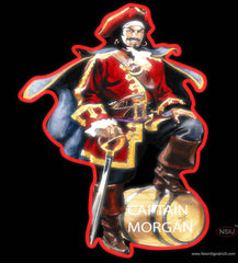 Captain Morgan Logo Real Neon Glass Tube Neon Sign