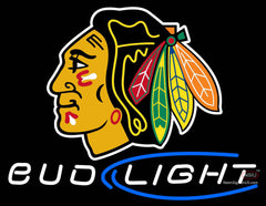 Chicago Blackhawks Bud Light NHL Neon Sign