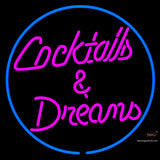 Custom Cocktails Dreams With Border Neon Sign