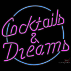 Custom Cocktails Dreams With Border Real Neon Glass Tube Neon Sign 7