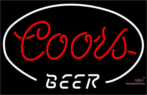 Red Coors Beer Neon Sign