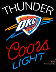 Custom Coors Light OKC Thunder Neon Sign