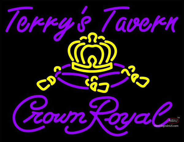 Custom Crown Royal Terrys Tavern Neon Sign