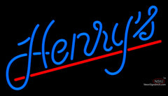 Custom Henrys Logo Neon Beer Neon Sign