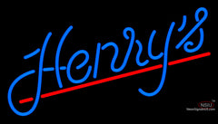 Custom Henrys Logo Neon Sign