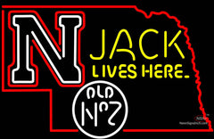 Nebraska Jack Lives Here Neon Sign