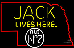 Jack Lives Here Nebraska Neon Sign