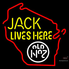 Custom Jack Lives Here Old No  Neon Sign